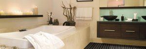 salle de bain en espace détente
