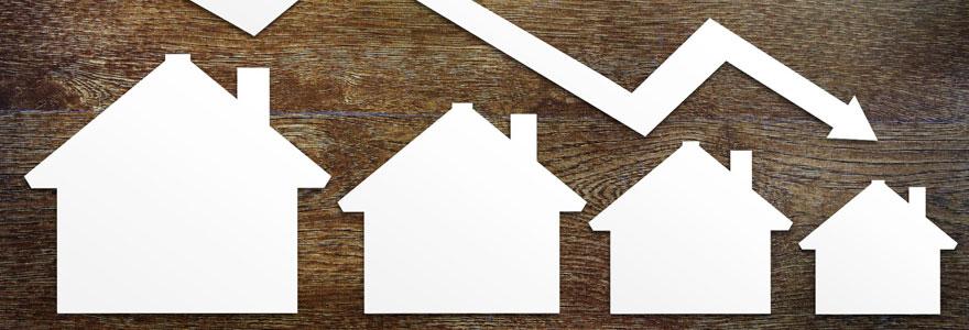 Baisse de l'immobilier